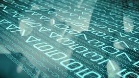 Code informatique d'algorithme, concepts de la science de technologie illustration libre de droits