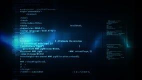 Code informatique mettant en rouleau le bleu illustration libre de droits