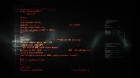 Code informatique mettant en rouleau le noir illustration libre de droits