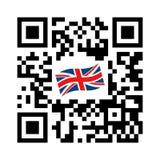 Code lisible de Smartphone QR avec l'icône de drapeau du Royaume-Uni illustration stock