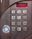 Code lock. Numerical code lock on a door royalty free stock image