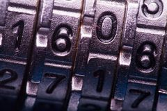 Code lock in macro Royalty Free Stock Images