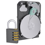 Code lock next to the hard drive Stock Photography