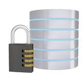 Code lock next to the hard drive Stock Image