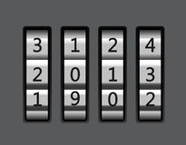 Code lock with number 2013  illustration Royalty Free Stock Image