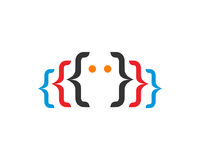 Code Logo Template Design Vector de Digital Photos libres de droits