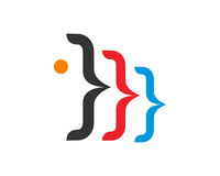 Code Logo Template Design Vector de Digital Image libre de droits