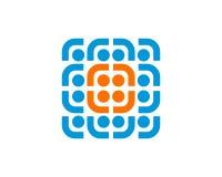 Code Logo Template Design Vector de Digital Photographie stock libre de droits