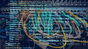 Code moving on a computer screen. 4K stock footage