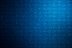 code numérique de l'illustration 3D sur le fond bleu Code de concept, données chiffrées illustration stock