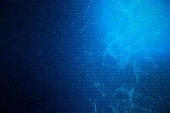 code numérique de l'illustration 3D sur le fond bleu Code de concept, données chiffrées illustration de vecteur