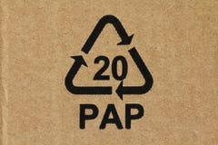Code 20 PAP de LRecycling Photo libre de droits