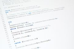 Code of php language on white Stock Photos