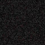 Code. Random computer symbols  code black vector background illustration Royalty Free Stock Image