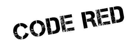 Code Red rubber stamp Stock Photo