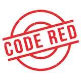 Code Red rubber stamp Royalty Free Stock Photos