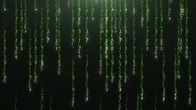 Code rouge en baisse vert de matrice photographie stock