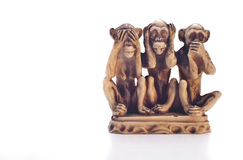 Code of silence. Three wise monkeys- code of silence Stock Images