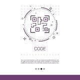 Code Software Development Computer Programming Device Technology Banner With Copy Space. Vector Illustration stock illustration