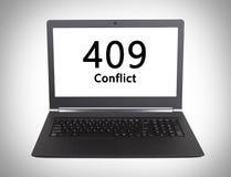 Code statut de HTTP - 409, conflit Photos libres de droits