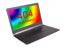 Code statut de HTTP - 404, pas ont trouvé Images libres de droits