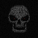 Code texture skull Stock Images