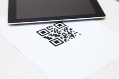 Code on white paper Royalty Free Stock Photo