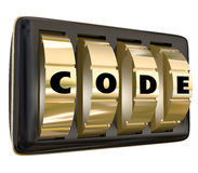 Code Word Lock Dials Secret Classified Informatoin Password Acce Stock Image
