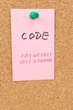 Code word and symbol Stock Images