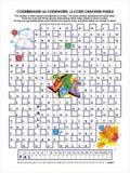 Codebreaker (codeword, code cracker) word puzzle Royalty Free Stock Image