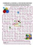 Codebreaker (codeword, code cracker) word puzzle Royalty Free Stock Photo