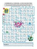Codebreaker Wortpuzzlespiel Lizenzfreie Stockbilder