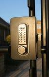 Coded Lock. Digitally coded gate lock Royalty Free Stock Image