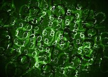 Coded Numbers stock photography