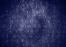 Coded Numbers Stock Photo