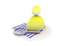 Codeer code royalty-vrije illustratie