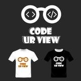 Codeer uw meningstypografie Vector van het t-shirt de grafische ontwerp royalty-vrije illustratie