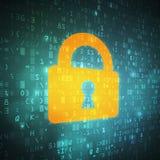 Codehintergrund der digitalen Daten des Sicherheitscomputers Lizenzfreies Stockbild