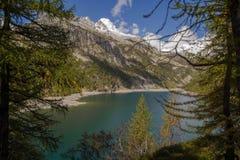 Codelago. Lake in alpe devero during autumn Stock Photo
