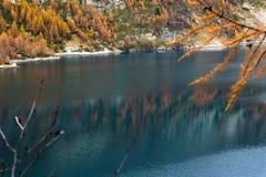 Codelago. Lake codelago in alpe devero during autumn Stock Photo