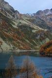 Codelago. Lake codelago in alpe devero during autumn Royalty Free Stock Images
