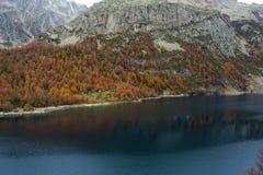 Codelago. Lake codelago in alpe devero during autumn Royalty Free Stock Photos
