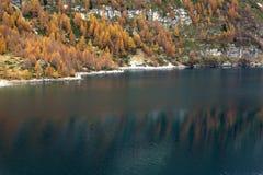 Codelago. Lake codelago in alpe devero during autumn Stock Photography