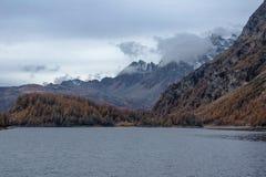 Codelago. Lake codelago in alpe devero during autumn Stock Photos