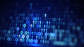 Codenahaufnahme binärer Daten Digital schoss blaue mit DOF vektor abbildung