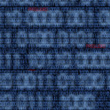 Codes binaires avec le mot de passe entaillé photos stock