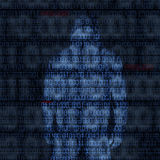 Codes binaires avec le mot de passe entaillé illustration stock