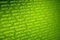 Codes de HTML Photographie stock