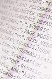 Codes de HTML Photos libres de droits