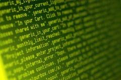 Codes de HTML Photo stock